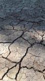 Aspetto della siccità su terra immagine stock