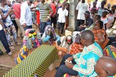 ASPETTO DELLE MASCHERE AFRICANE Fotografie Stock Libere da Diritti