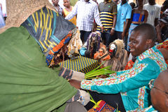 ASPETTO DELLE MASCHERE AFRICANE Fotografia Stock