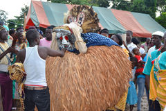 ASPETTO DELLE MASCHERE AFRICANE Fotografie Stock