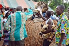 ASPETTO DELLE MASCHERE AFRICANE Fotografia Stock Libera da Diritti