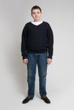Aspetto marrone dell'europeo dei capelli del ragazzo Fotografia Stock Libera da Diritti