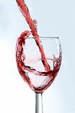 ASPglass of wine1.jpg. Wine falling into glass Royalty Free Stock Photos