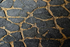 Asphalt. Detail of asphalt pavement lines Stock Photos