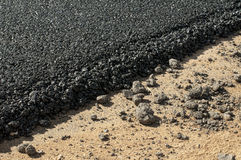 Asphalt and asphalting the road Stock Images