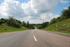 Asphalt auto road in summer Stock Photography