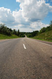 Asphalt auto road in summer Stock Images