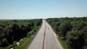 Asphalt Autobahn Highway Road In Rusia almacen de video