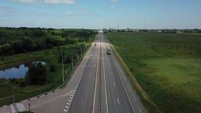 Asphalt Autobahn Highway Road In Russland stock footage
