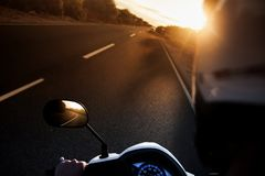 Asphalt, Automobile, Biker, Blur, Royalty Free Stock Photos