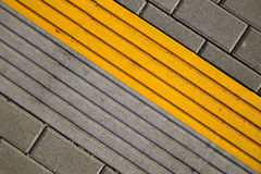 Asphalt background. Texture with yellow line Royalty Free Stock Images