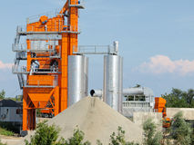 Asphalt batching plant. In vojvodina stock photography