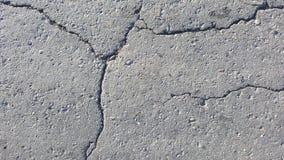 Asphalt with big cracks Stock Images