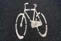 Asphalt bike Stock Image