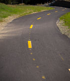 Asphalt Bike Path Royalty Free Stock Images