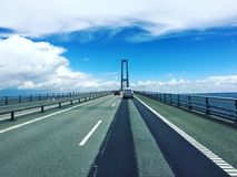 Asphalt, Bridge, Cars Royalty Free Stock Photography