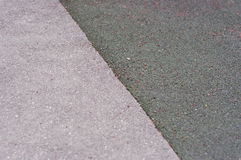 Asphalt and carpet tennis court texture background.  Royalty Free Stock Photography