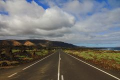 Asphalt, Clouds, Cloudy, Countryside Royalty Free Stock Image