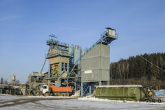 Asphalt concrete plant Royalty Free Stock Photography