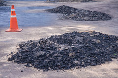 Asphalt in Construction Division Royalty Free Stock Photography