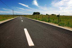 Asphalt in Countriside Royalty Free Stock Photo
