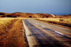 Asphalt of country road Stock Photography
