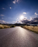 Asphalt of country road Royalty Free Stock Photo