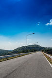 Asphalt country road Royalty Free Stock Image