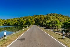 Asphalt country road Royalty Free Stock Images