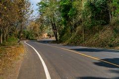 Asphalt Country road Stock Photo