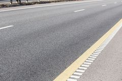 asphalt covering multi-lane highway Stock Photo