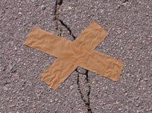 Asphalt with crack Stock Images