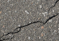 Asphalt with crack background. Old gray road for background or texture. Stock Photography