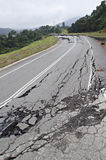 Asphalt Cracked Road Collapsed Royalty Free Stock Photo
