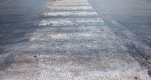 Asphalt, crosswalk Royalty Free Stock Photo