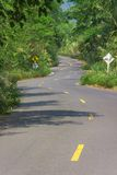Asphalt curve road Stock Photos