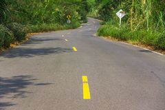 Asphalt curve road Stock Photos