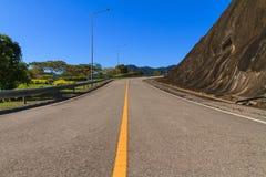 Asphalt curve road Stock Photography