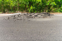 Asphalt damaged Stock Photos