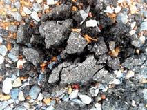 Asphalt and debris Royalty Free Stock Images