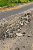 Asphalt demolished Royalty Free Stock Photography