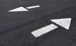 Free Asphalt Direction Arrows Royalty Free Stock Image - 95250516