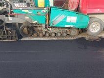 Asphalt Driveway parkeringsplatsreparation Arkivfoton