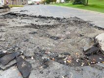 Asphalt Driveway parkeringsplatsreparation Royaltyfri Bild