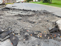 Asphalt Driveway, Parking Lot Repair Royalty Free Stock Image
