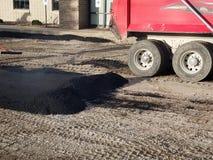 Asphalt Driveway, Parking Lot Repair Stock Images
