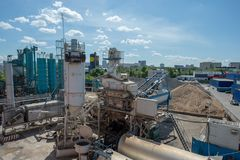 Asphalt factory russia moscow Dorohovo st 2 2016-05-26 royalty free stock photography