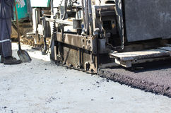 Asphalt finisher machine Royalty Free Stock Photography