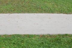 Asphalt Footpath en groen gras in bilateraal stock afbeelding