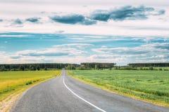 Asphalt Freeway, Motorway, Highway Country Road In Countryside Stock Photos